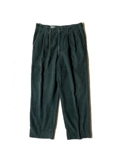 90's 2tuck Corduroy Trousers GREEN