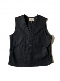 90's~ STORMY KROMER Wool Vest BLACK MADE IN U.S.A.