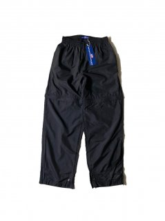90's~ DEAD STOCK Sportsmaster Detachable Nylon Pants BLACK
