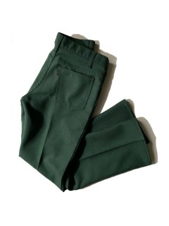 90's Levi's STA-PREST Flare Pants MOSS GREEN MADE IN U.S.A.