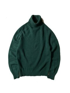 60's Unknown Brand Shetland Wool Turtleneck Knit MADE IN ENGLAND