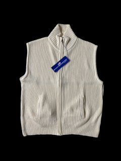 90's DEAD STOCK Sportsmaster Rib Knit Vest WHITE L MADE IN U.S.A.