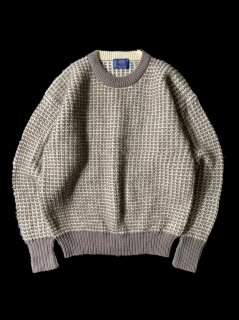 80's KENNETH CORDON Worsted Wool Knit ポップコーン編み MADE IN BRITISH