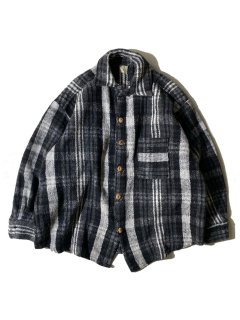 80's Unknown Brand Heavy Wool Check Shirt