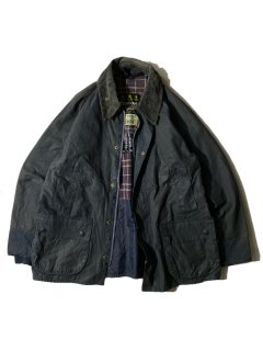 90's Barbour BEDALE Wax Cotton Jacket NAVY 40 MADE IN ENGLAND