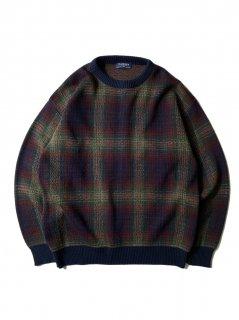 90's VAN HEUSEN Ombre Check Knit