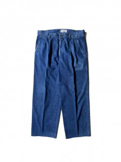 90's ICEBERG 2tuck Wide Denim Trousers MADE IN ITALY