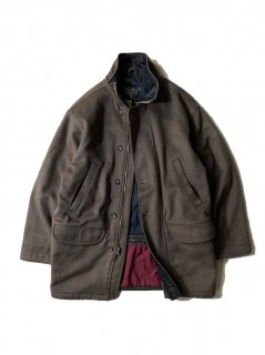 90's Eddie Bauer Melton Half Coat MOCA BROWN