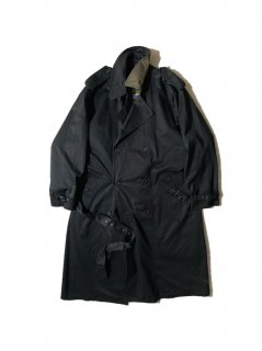 80's LONDON FOG Trench Coat BLACK