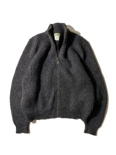 90's L.L.Bean Wool/Alpaca Zip-up Knit MADE IN U.S.A.