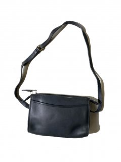 80's OLD COACH Grabtan Leather Shoulder Bag BLACK MADE IN THE UNITED STATES