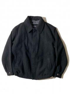 90's claibornd Wool Blouson BLACK L