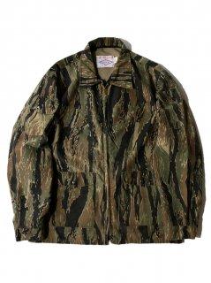 80's Neet Products Inc Tiger Camo Stripe  Zip-up Jacket X-LARGE MADE IN SEDALIA MO U.S.A.