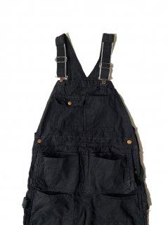 80's Carhartt Garment Dye Duck Overall BLACK