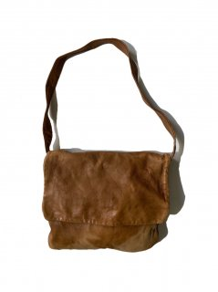 90's Unknown Brand Leather Shoulder Bag BROWN