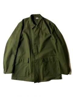 60's DEAD STOCK Swedish Army Overdragsrock M-59 Utility Work Jacket C50