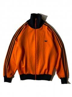 80's adidas Track Jacket ORANGE/BLACK