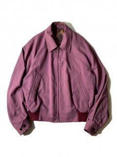 90's DOMON Rayon Blend Zip-up Jacket SMOKY PINK