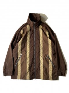 80~90's DS Nylon Zip-up Jacket BROWN MADE IN HONGKONG