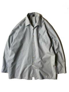 80's Euro Shark Collar Shirt SMOKY PAIL BLUE
