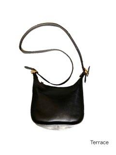 OLD COACH Grabtan Leather Shoulder Bag BLACK