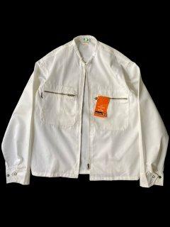 Dead Stock Euro Collarless Work Jacket WHITE