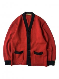 50's IMPERIAL Letterd Cardigan RED×BLACK