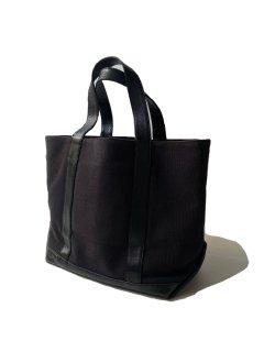 A.P.C. Canvas×Leather Tote Bag BLACK