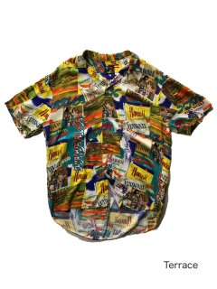 90's JAMS WoRLd Hawaiian Pattern Shirt MADE IN U.S.A.