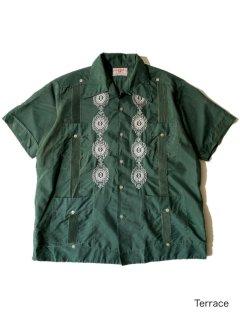 70's Cuba Shirt GREEN