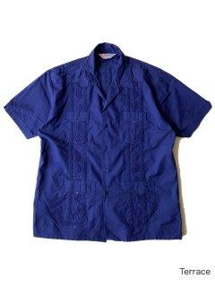 80's Cuba Shirt NAVY