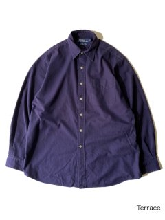 90's Polo by Ralph Lauren LOWELL SPORT Herringbone Twill Two-Pay Cotton Shirt