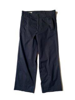 OLD DRIES VAN NOTEN Cotton Chino Trousers NAVY サイドアジャスターボタン付き