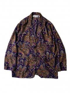 90's CHAUS Paisley Pattern Rayon Jacket