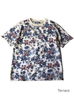 90's Maxime Flower Pattern Slit T-shirt