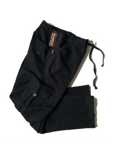 DEAD STOCK FREE PRIDE Sweat Cargo Pants BLACK MADE IN ITALY