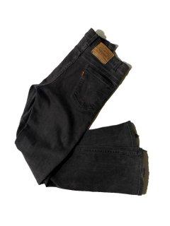 90's Levi's 517 Stretch Black Denim Pants MADE IN U.S.A.