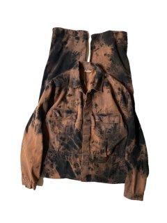 Euro Vintage Garment Dye & Bleached Work Jumpsuits