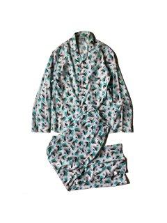 80's Euro Allover Pattern Pajamas Set up