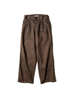 ISSEY MIYAKE Tuck Cotton Trousers