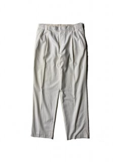 OLD DRIES VAN NOTEN Cotton/Rayon 2tuck Trousers WHITE