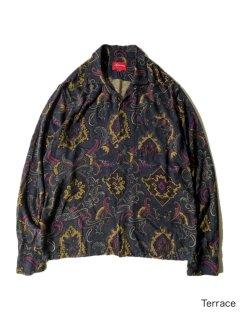 Supreme Paisley Pattern Open Collor Rayon Shirt