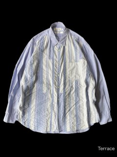 COMME des GARCONS SHIRTS Stripe Shirt L MADE IN FRANCE