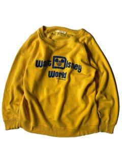 70's Walt Disney World Official Sweat YELLOW×BLUE M