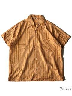 80's Euro Stripe Shark-collar Shirt
