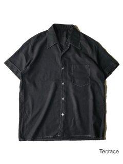 80's Euro Garment Dye Black Shirt