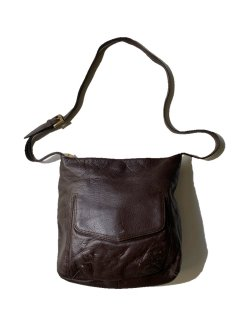90's Stone Mountain Leather Shoulder Bag BITTER BROWN