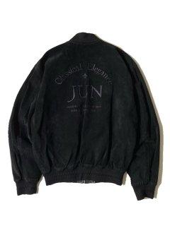 90's JUN MEN Pig Leather Zip-up Blouson BLACK