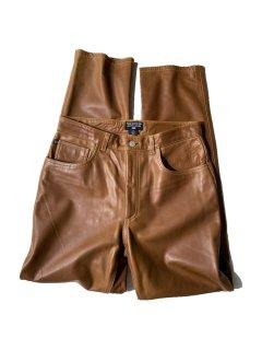 POLO JEANS CO.RALPH LAUREN Leather Pants BROWN ( 実寸 W29 L31 )