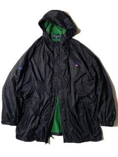 90's POLO SPORT Nylon Hooded Jacket BLACK/GREEN